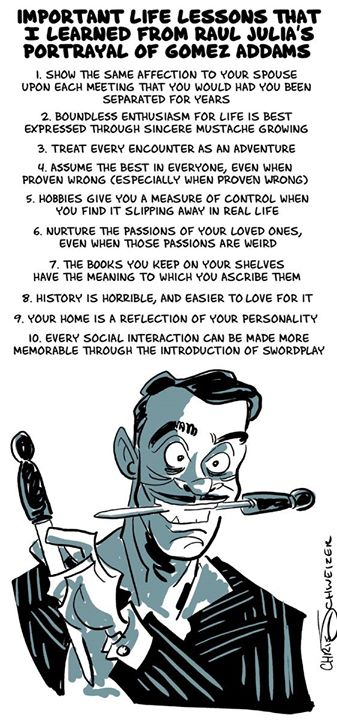 Important Life Lessons That I Learned From Raul Julia's Portrayal Of Gomez Addams